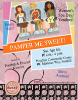 Pamper Me Sweet Event- looking for vendors