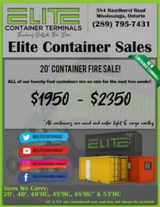 20 Foot Container Sale!!! We hand pick the best of the best!