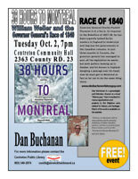 38 Hours to Montreal! A book talk with author Dan Buchanan!!