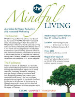 Mindful Living, A 6 week course for Stress Reduction