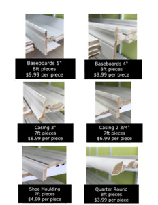 ****Baseboards and Trim Deals****