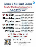Summer Pre-Study Crash Courses for G11 G12 High School Subjects