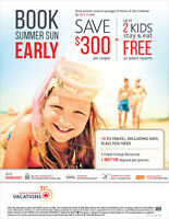 SAVE and Book your Summer Vacation Trip Early