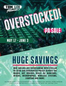 Overstocked! PA Sale - Tom Lee Music