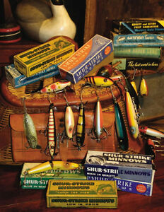 Vintage/Antique Fishing Lures, Reels and Tackle.