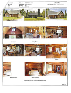 LOG  HOUSE WITH 5 ACRES