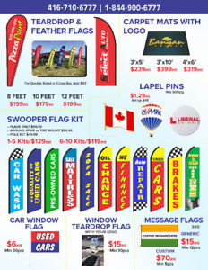 T shirt,Teardrop Flag,Tents,Flyers, Pen, All promos, in 1 place