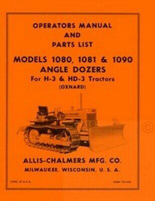Allis Chalmers H-3 Hd-3 H3 Angle Dozer Operators Manual