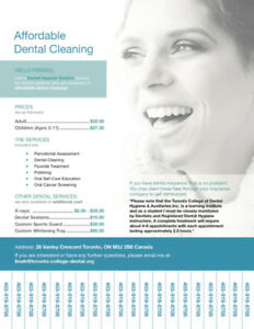 Dental service at affordable cost!