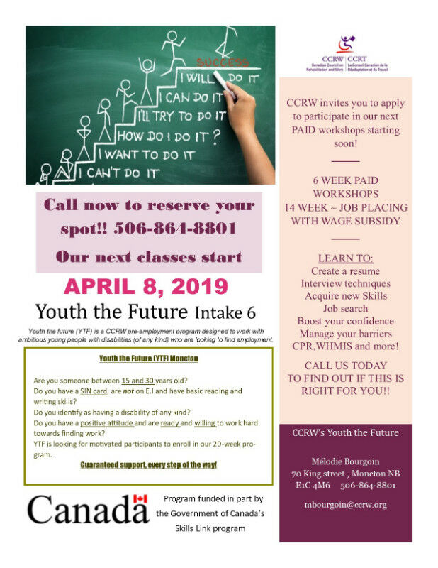 Youth The Future Activities Groups Moncton Kijiji