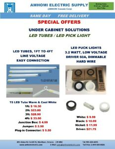 UNDER CABINET LED TUBES & PUCK LIGHTS: From $9.99