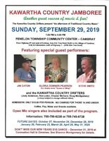 KAWARTHA COUNTRY JAMBOREE FOR SEPTEMBER