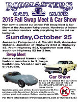 RODMASTERS CAR CLUB FALL SWAP MEET/CAR SHOW