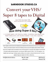 Convert VHS|Super 8 or film and slide to digital