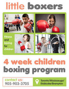 Little boxers: Children Boxing Classes in the GTA! AGES 3 to 6!