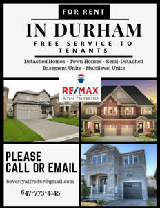 Townhouse for Rent in Pickering, Liverpool & Bayly - $2,250.00