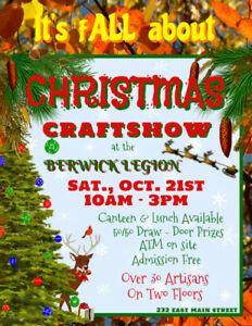 BERWICK LEGION FALL CRAFT SHOW