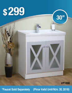 Bathroom Sinks**PRE-MADE** Bathroom Vanities/Cabinets/Glass Top