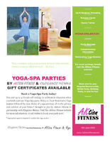 Personal Yoga Training & Yoga Party Parties