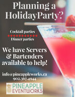 Planning a party and need a server or bartender?