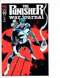 PUNISHER WAR JOURNAL #50 NM TO NM+ (1993) 1ST PUNISHER 2099!