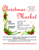 3rd Annual Christmas Market ***VENDORS WANTED***