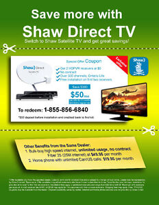 SHAW DIRECT SATELLITE TV SPECIAL PROMOTIONS