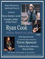 Nova Scotia's 2018 Country Artist of the Year -Ryan Cook