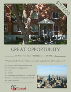 GREAT OPPORTUNITY OF INVESTMENT : 8-Plex in Montreal
