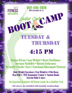 Ladies Only Boot Camp Waterdown