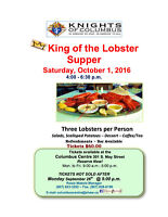 """Knights of Columbus """"King of the Lobster Supper"""""""
