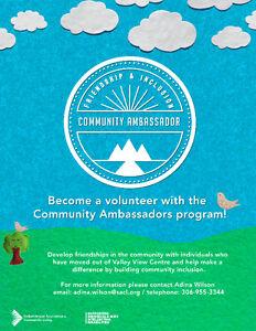 Looking for Great Community Volunteers Moose Jaw Regina Area image 1