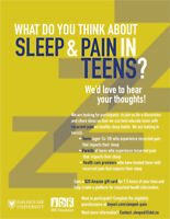 WANTED: Participants for online focus groups about sleep & pain