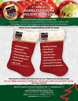 Homeless Youth Holiday Wish List - Donations needed