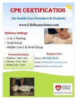 CPR and Standard 1st Aid Certificate Courses