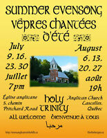 Summer Evensongs in the Gatineau Hills
