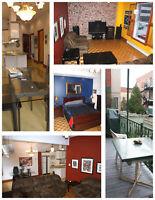 5½ meublé, à 2 mins. de métro Papineau – 5½ fully furnished