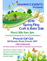 SPRING CRAFT AND BAKE SALE