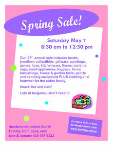 Humbercrest 51st annual Spring Sale