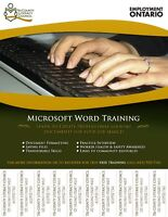 FREE Microsoft Word Training for Adults 19+