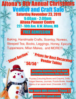 Looking for vendors for Altona's 8th annual Christmas sale