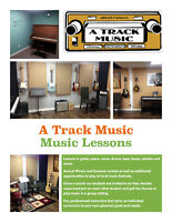 Piano, Guitar, Drums, Voice, Ukulele, Banjo, Bass, Music Lessons