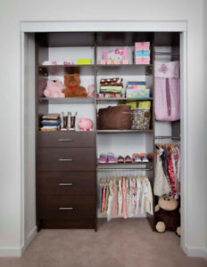 Closet and Garage Organizers. Free quote and install included.