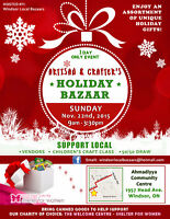 WINDSOR LOCAL ART & CRAFTER'S BAZAAR THIS SUNDAY NOV. 22nd