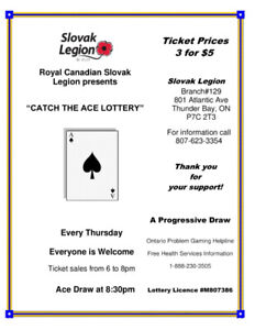 Catch the Ace Lottery at the Slovak Legion