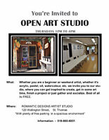 OPEN  STUDIO - Every Thursday  1-4pm
