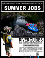 KAYAK & RAFTING GUIDES WANTED
