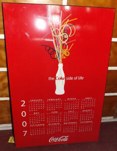 COCA COLA Calendars Mounted on Board  $29 Each, VARIOUS YEARS