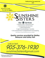 SUNSHINE SISTERS SERVING NORTHUMBERLAND COUNTY AREA