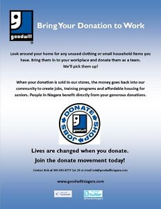 Bring Your Donation to Work